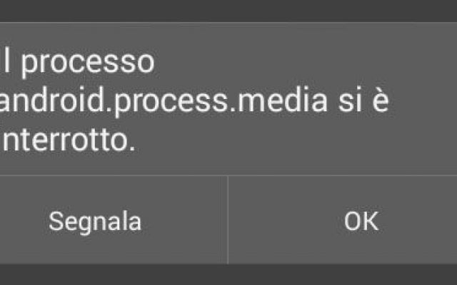 android process media interrotto